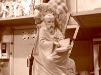 Фигуры евангелистов, светильники, крестильня, с.Буки / Evangelicals. Lamps