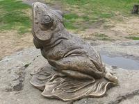 Лягушка, парковая скульптура / Frog. Park sculpture