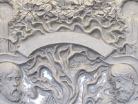 Двери / Sculptural relief on door